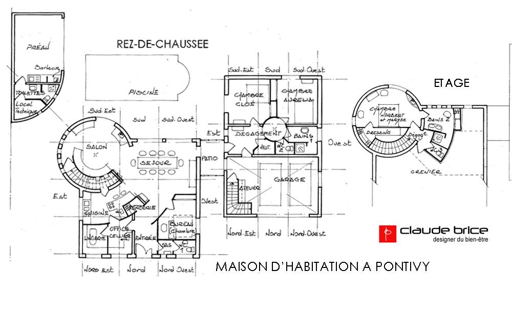 Plan feng shui maison beautiful plan maison moderne m on for Plan chambre feng shui