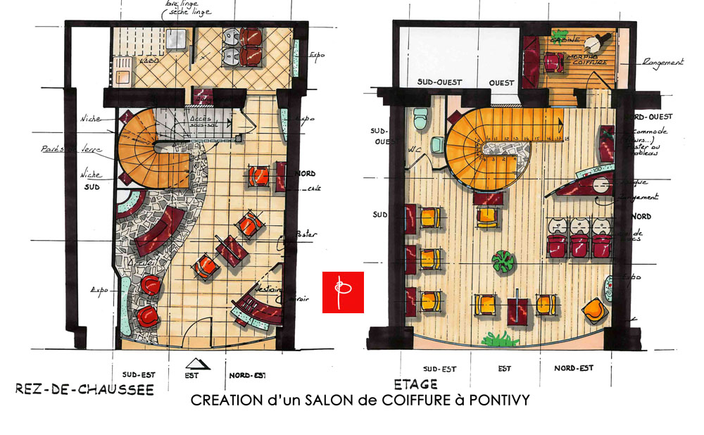 salon feng shui plan