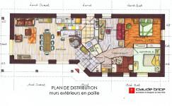 Plan Feng Shui d'une maison à Aubusson
