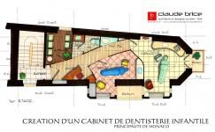 Plan Feng Shui d'un cabinet dentaire à Monaco