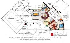 Plan Feng Shui d'une maison en Forez