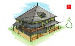Plan Feng Shui d'une maison dans les volcans d'Auvergne